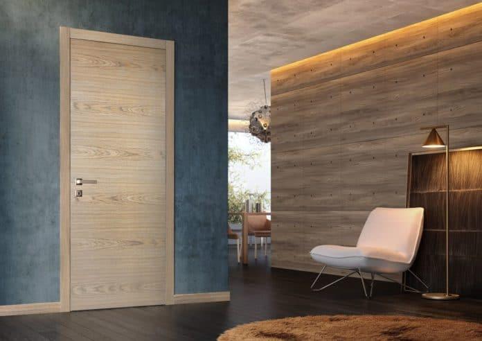 модерна дървена интериорна врата